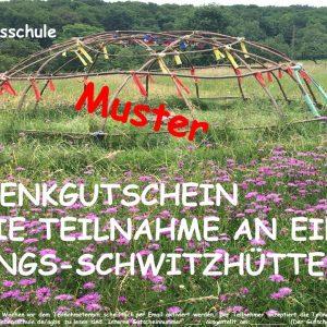 Heilungs-Schwitzhütte-Geschenkgutschein